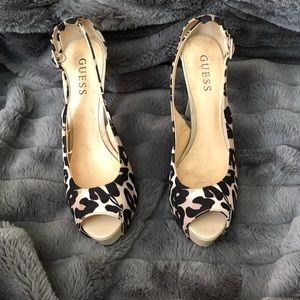 Guess Cheetah Heels
